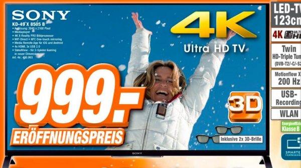 Expert: Sony KD-49X8505B für 999 Euro in Cottbus, Senftenberg, Hoyerswerda und Görlitz