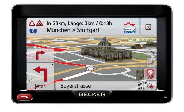 Becker Professional 50 LMU Navigationsgerät (12,7 cm (5'') Bildschirm, 44 Länder vorinstalliert, HQ TMC, Becker SituationScan, Lebenslange Kartenupdates, OneShot Sprachsteuerung) schwarz/silber [Amazon WHD]