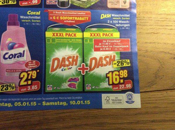 [Netto ohne Hund] XXXL Pack Dash 200 Waschladungen