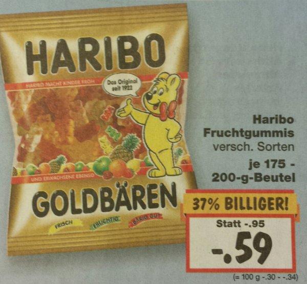[Kaufland] [lokal (Steinheim/Marbach) evtl. bundesweit?] KW 02 Haribo Fruchtgummis verschiedene Sorten je 175-200g Beutel 0,59€