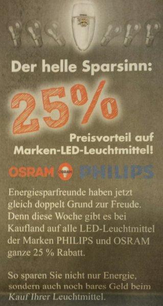 [Kaufland] [bundesweit] [KW02] 25% Rabatt auf alle Marken-LED-Leuchtmittel von Osram und Philips