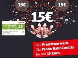 Probe BahnCard 25, 3 Monate für 15€ (2. Klasse) oder 35€ (1. Klasse)