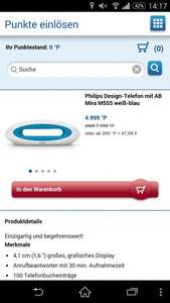 Philips m555 schnurlos telefon mit ab, idealo 57,99 euro