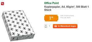 [offline] Kopierpapier Office Point, A4, 80g/m², 500 Blatt  für 1,99€ @GLOBUS