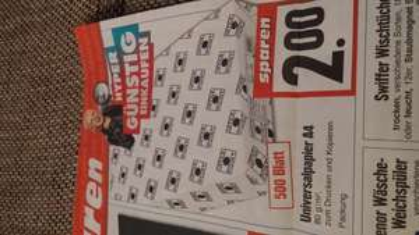 500 Blatt Kopierpapier @ Edeka evtl. Bundesweit?
