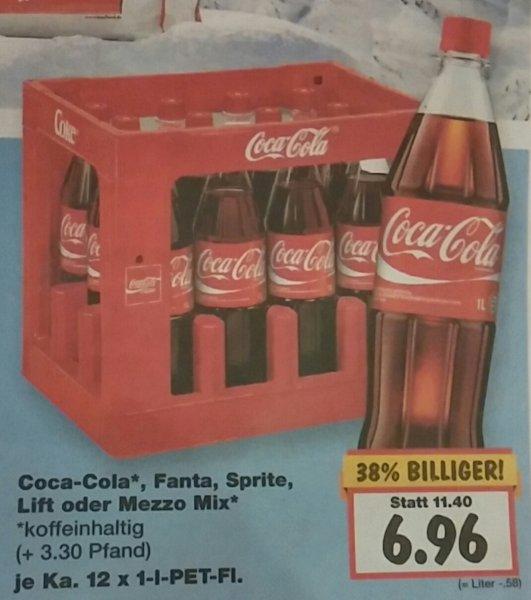 [Kaufland Reutlingen] 12x 1,0l Cola, Fanta, ... ~ 0,58€ / Liter