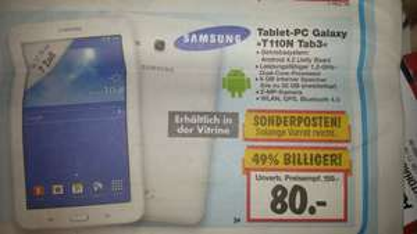Samsung Tab 3 7.0, Kaufland (lokal Lüneburg?)