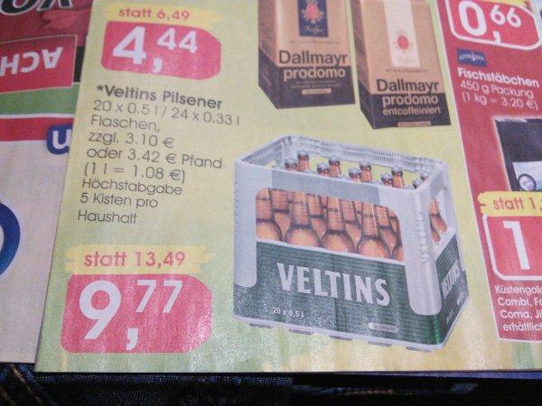 Veltins Pilsener 9,77€ in OWL bei Jibi, Minjpreis, Combi