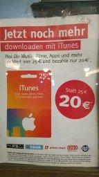 iTunes 25€ für 20€ permanent? lokal Berlin