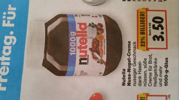Nutella für 3,50€ das Kilo bei Kaufland