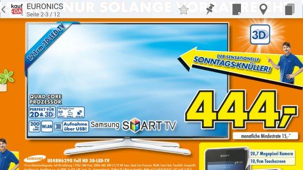 Samsung UE48H6290 - 444€ - Euronics XXL Lüdinghausen [Lokal] - Idealo 518,99€