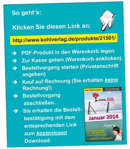 Kostenlose Arbeitsblätter vom Kohl-Verlag (für Lehrerinnen und Lehrer)