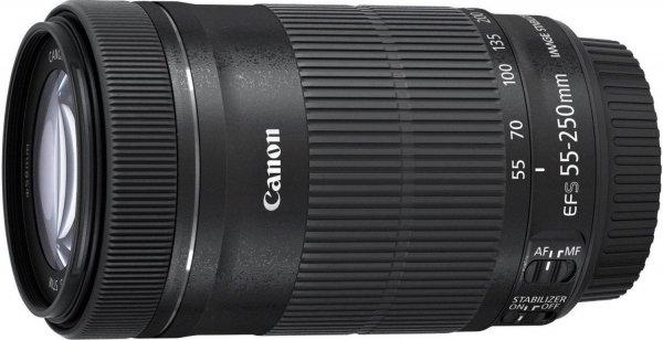 Canon Tele-Zoomobjektiv EF-S 55-250mm 1:4-5,6 IS STM (58mm Filtergewinde) schwarz