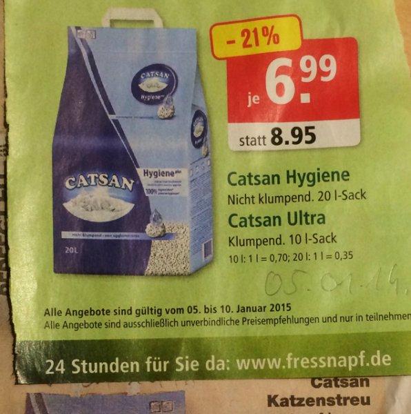 Catsan 6,99 Kaufland & Fressnapf ab 05.01.