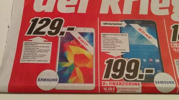 [Lokal Media Markt KA] Samsung Galaxy Tab 3 (8.0) 16GB LTE weiß für 199€