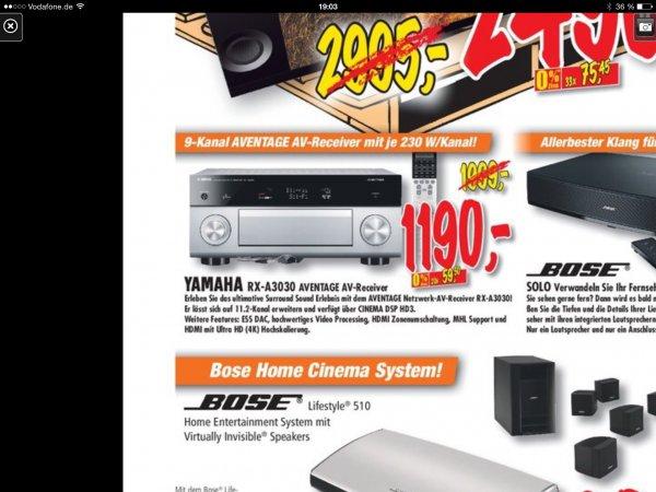 [Lokal Yamaha RX-A 3030 für 1190.- € Expert Technoland