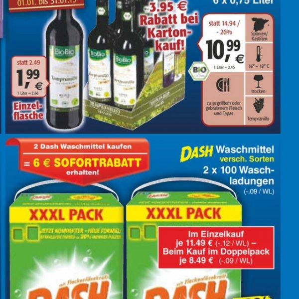 [BW roter Netto] Dash 100WL für 17€