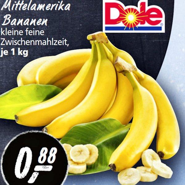 Dole Bananen je 1 kg nur 88 Cent bei [ REAL ]