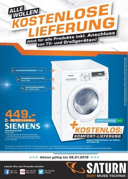 [Lokal Saturn Darmstadt] Siemens Waschmaschine WM14Q4D1
