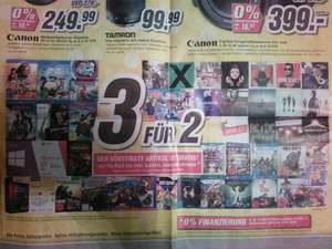 MEDIMAX Aktion - 3 für 2 bei PS4 Games, XBOX ONE Games, CD's, DVD's, Blu-rays, Games und Software
