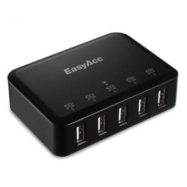 [Amazon] 20% Rabatt auf EasyAcc® 5V 8A Ladegerät 5-Port USB Mulitport Adapter (ab 13,59€)