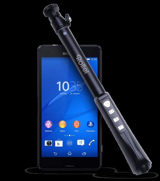 Sony Xperia Z3 compact & Selfie Stange (Schwarz) bei Base