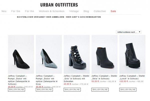 [urbanoutfitters.com] Jeffrey Campbell : Pumps & Stiefel - reduziert ab 40€