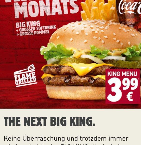 King des Monats BURGERKING - BIG KING