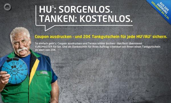 Euromaster - 20 EUR Tankgutschein für HU/AU