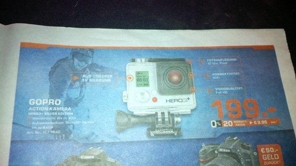 [Saturn.de und Bundesweit] GoPro HERO3+ Silver Edition für 199€