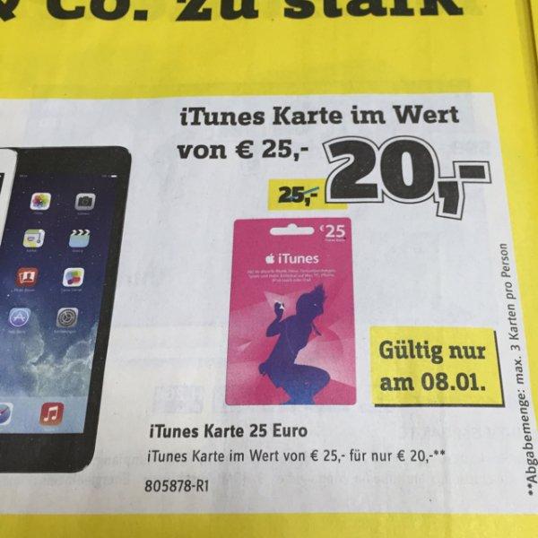 Conrad Electronic itunes 25€ für 20€ nur am 8.01.15