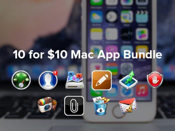 Das 10-For-$10 Mac App Bundle mit 10 Apps für ca. 8,40€ und 78% Ersparnis