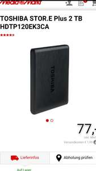 Toshiba 2TB Festplatte