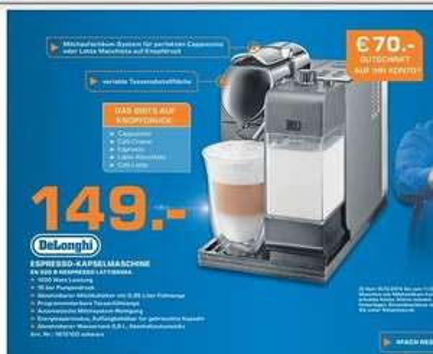 [LOKAL] Saturn Isernhagen (Hannover)  - Nespresso Latissima + (EN 520b) für effektiv € 79