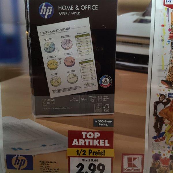 [Kaufland NRW] HP Kopierpapier 80g (50% günstiger)
