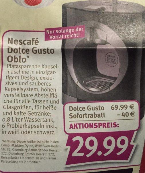 [Combi Märkte] Krups Dolce Gusto Oblo für 29,99€