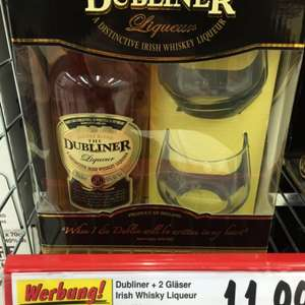 The Dubliner Liqueur 0.7 Liter + 2 Gläser Kaufland Mannheim