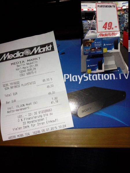 Playstation TV für 49€ bei Media Markt, eventuell nur lokal in Berlin