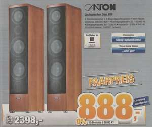 [Expert Bening] Canton Ergo 695 Idealo 1338€