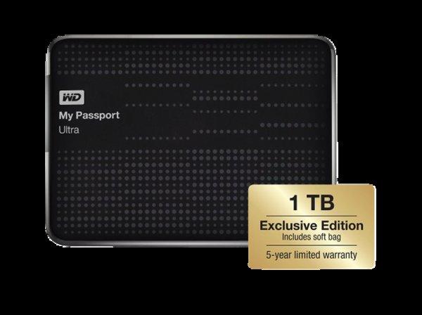 WD My Passport® Ultra™ 1 TB. Exclusive Edition mit 5 Jahren Garantie inkl. Schutzhülle