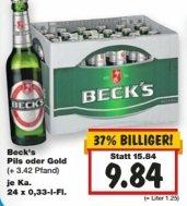 [Kaufland] Becks 24 x 0,33l für 9,84 € oder 20 x 0,5l für 10 € Bundesweit (15.01-17.01)