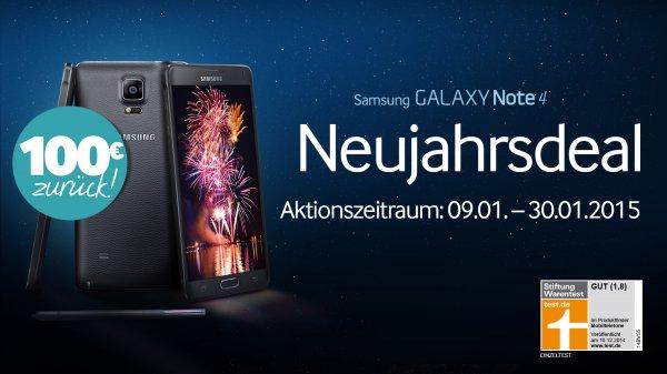 Telekom Magenta M Mobile (Allnetflat + 1,5GB LTE) + Galaxy Note 4 günstig durch Amazon (100€ + 50€ GS) und Cashback 100€ + kostenlose HotSpotflat (120€)