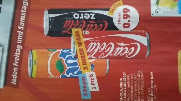 3 Dosen Erfrischungsgetränk eurer Wahl für 0.99€ Plus Pfand