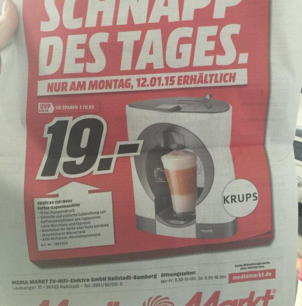 Krups KP 1101 Weiss Kaffeemaschine [Media Markt Bamberg]