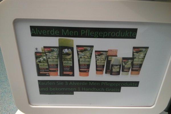 dm: 3 Alverde Men Pflegeprodukte kaufen = Duschtuch geschenkt