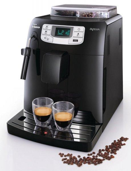 @amazon - Saeco HD8751/11 Intelia Kaffeevollautomat mit Keramikmahlwerk und Dampfdüse in schwarz für 333,33€ inkl. VK