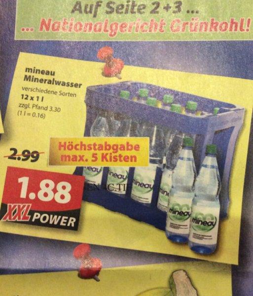[Oldenburg] Famila XXL Mineau Mineralwasser 1Kasten 1,88€ zzgl. Pfand 3.30€