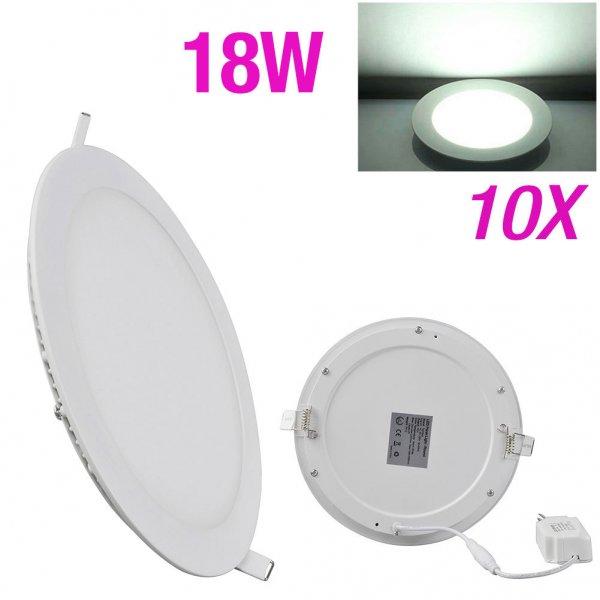 10er Pack runde 18W-LED-Einbau-Panels