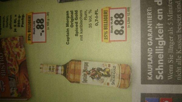 [Kaufland Ansbach regional?] Captain Morgan 0,7l für 8,88€ + Parliament Vodka 0,7l für 8,99€