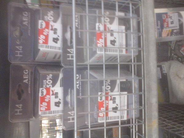 AEG Glühlampe White Xenon +50% H4/H7 [Obi] 4,99 / 6,49 EUR (von 9,99/12,99) 2-er